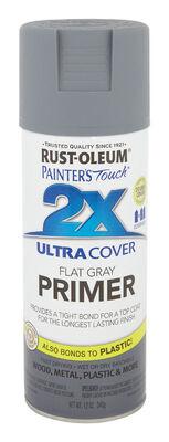 Rust-Oleum Ultra Cover Gray Flat 2x Primer Spray 12 oz.