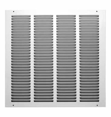 Tru Aire 16 in. W x 16 in. H White Steel Return Air Grille