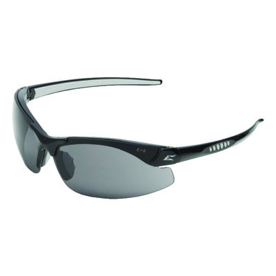 Edge Eyewear Multi-Purpose Safety Glasses Antifog Smoke Lens Black Frame Bulk