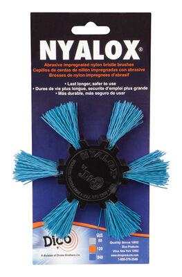 Dico 4 in. Dia. Aluminum Oxide Nylon Flap Brush 240 Grit