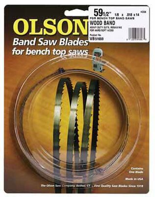 Olson 59.5 in. L x 0.1 in. W Carbon Steel Band Saw Blade
