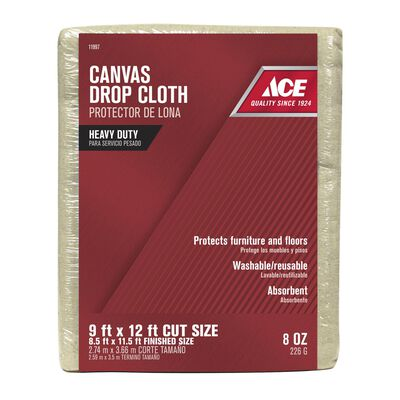 ACE Heavy Weight Canvas Drop Cloth 12 ft. L x 9 ft. W