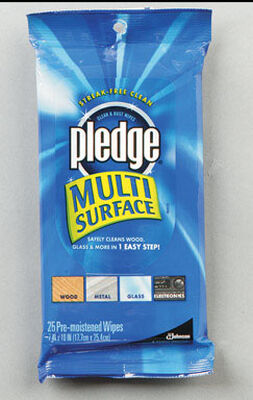 Pledge Multi-Surface Cleaner 25 pk Wipes