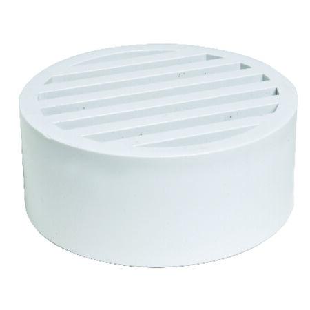 Plastic Trends 4 in. White PVC Round Drain Grate