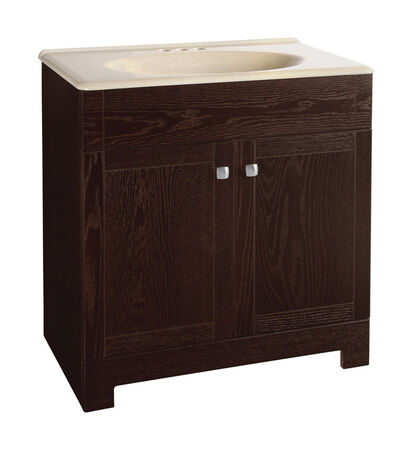 Continental Cabinets Sedona Single Java Vanity and Top Combo 30 in. W x 18 in. D x 32 in. H