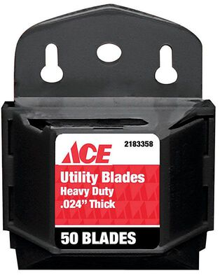 Ace Heavy Duty Utility Knife Replacement Blade 50 pk