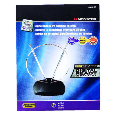 Monster Cable VHF/UHF/HDTV Indoor Indoor TV Antenna 1