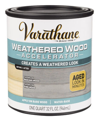 Varathane Weathered Wood Accelerator Water-Based Wood Stain Gray 1 qt.