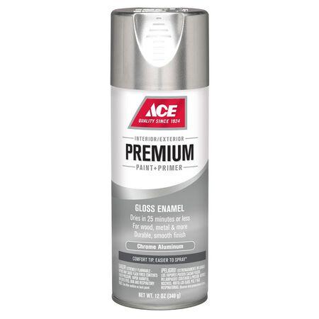Ace Premium Chrome Aluminium Gloss Enamel Spray Paint 12 oz.