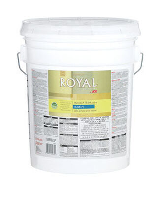 Ace Royal Acrylic Latex House & Trim Paint & Primer Satin 5 gal. High Hiding White