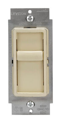 Leviton SureSlide 150 watts Slide Dimmer Switch Ivory