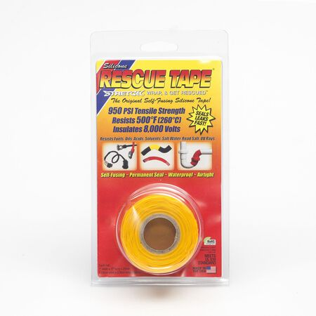 Rescue Tape 1 in. W x 12 ft. L Silicone Tape Yellow