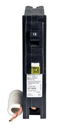 Square D HomeLine Arc Fault/Single Pole 15 amps Circuit Breaker