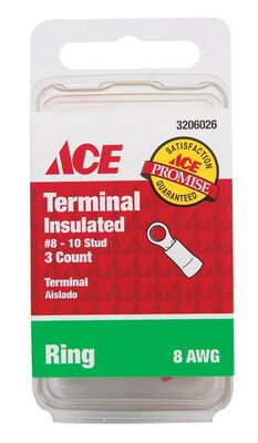Ace Industrial Ring Terminal Vinyl 3 Red