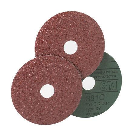 3M 7 in. Dia. Fibre Discs 24 Grit Extra Coarse 1 pk