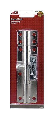 Ace Barrel Bolt Zinc 6 in. L