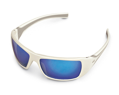 Glasses White Ice Blu Mirror