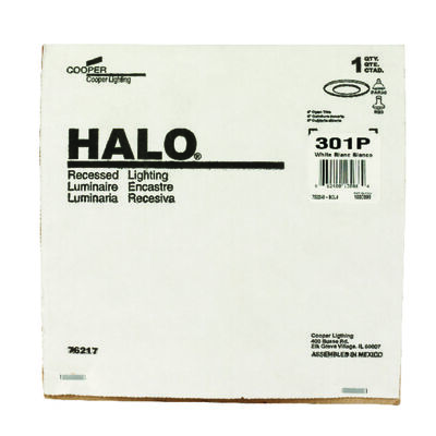 Halo 6 in. W White White Metal Incandescent 6 in. Recessed Light Trim