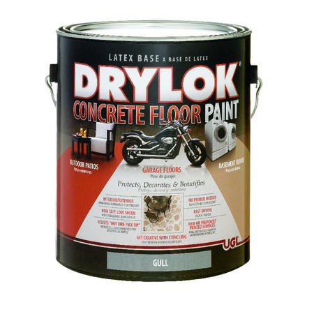 Drylok Floor Paint Low Sheen Gull 1 gal.