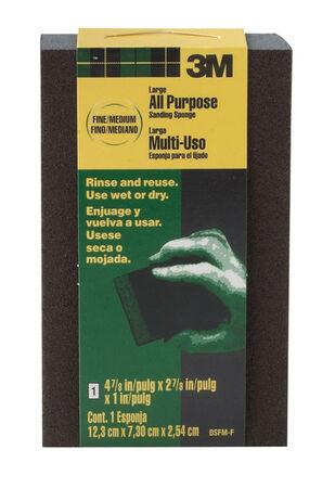 3M 4-7/8 in. L x 2-7/8 in. W x 1 in. Fine/Medium Sanding Sponge