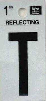Hy-Ko Self-Adhesive Black Reflective Vinyl Letter T 1 in.