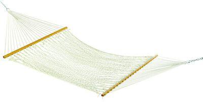 Hammock Source 55 in. W x 82 in. L 2 person White Rope Hammock