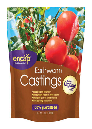 Encap Earthworm Castings Organic 4 lb. Bagged