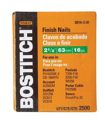 "2,500-Qty. 2-1/2"" 16-Gauge Straight Finish Nails"
