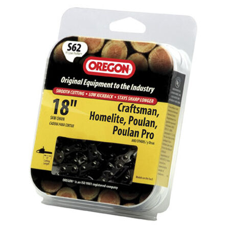Oregon Chainsaw Chain 62 links 18 in. For Craftsman Homelite Poulan 91 Low Profile