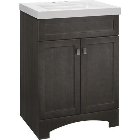Continental Cabinets Davison Gray Vanity with Cultured Marble Top (24 in.)