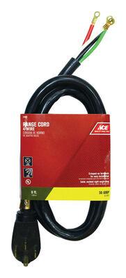 Ace 6/2 8/1 SRDT 250 volts Range Cord 4 Wire 6 ft. L Black