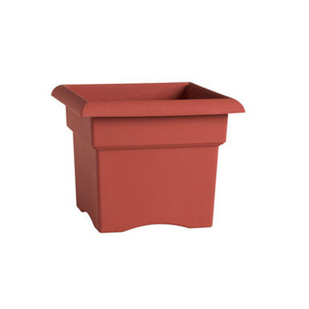 Bloem Terracotta Clay Resin Veranda Planter 11 in. H x 14 in. W