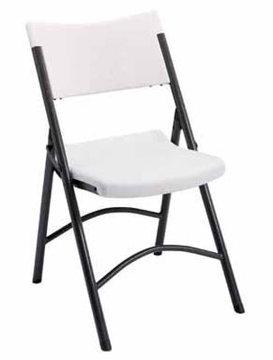 Living Accents Blow Mold 2 Position Folding Chair White