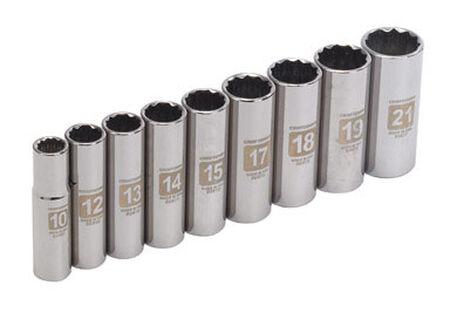 Craftsman 9 pc. Metric 9 pc. Alloy Steel 3/8 in. Drive Socket Set