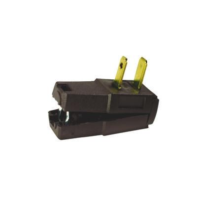 Leviton Easy-To-Wire Residential Nylon Non-Grounding Non-Polarized Plug 1-15R 18/2 - 16/2 AWG