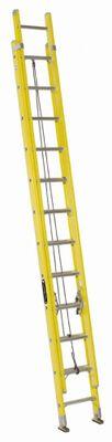 24 ft Louisville FE1724 Fiberglass Extension Ladder, Type I, 250 lb Load Capacity