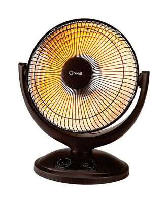 Soleil Electric Radiant Portable Heater Black