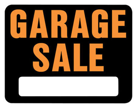 Hy-Ko English 15 in. H x 19 in. W Plastic Sign Garage Sale