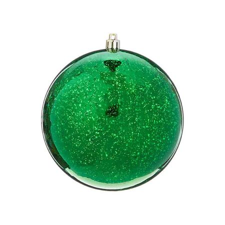 "4.75"" Green Mercury Glass Ornament"