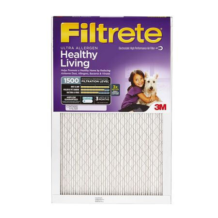 3M Filtrete 20 in. W x 20 in. L x 1 in. D Air Filter