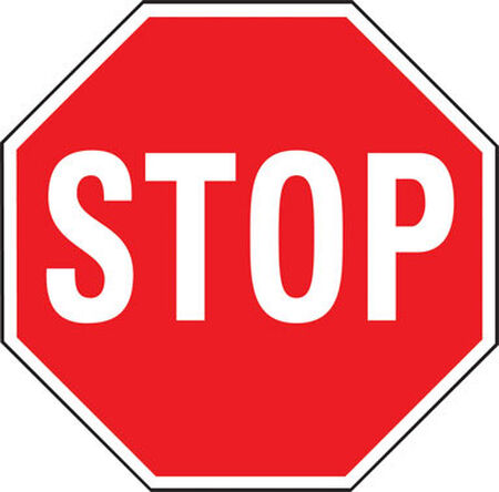 Hy-Ko English 18 in. H x 18 in. W Aluminum Sign Stop