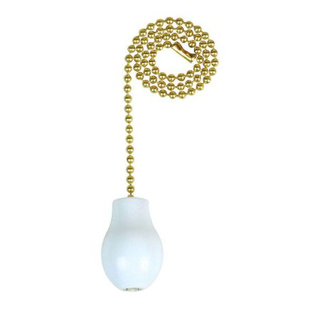 Jandorf Pull Chain Brass and White 1 ft. L 1 pk