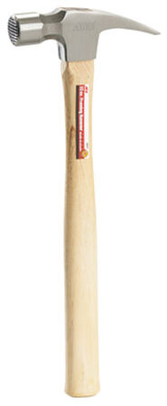 Ace 22 oz. Milled Face Hickory Framing Hammer Carbon Steel