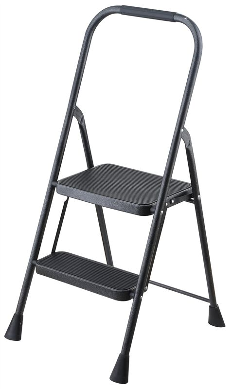 Swell Simple Spaces Wk 2062A Folding Type 3 Step Stool 2 Steps 200 Lb Steel Powder Coated Gray Inzonedesignstudio Interior Chair Design Inzonedesignstudiocom