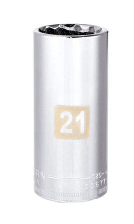 Craftsman 21 Alloy Steel 3/8 in. Drive in. drive Deep Socket