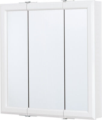 Continental Cabinets Medicine Cabinet Triview 24 in. x 24 in. x 4-1/4 in. White