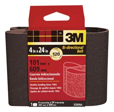3M Sanding Belt 4 in. W x 24 in. L 120 Grit Fine 1 pk