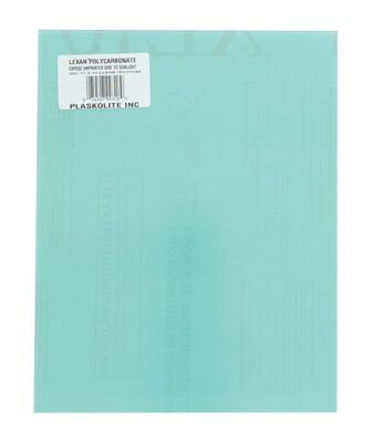 Lexan Polycarbonate Sheet .093 in. x 11 in. W x 14 in. L