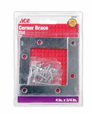 Ace Flat Corner Brace 4 in. x 3/4 in. Zinc