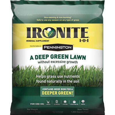 Pennington Ironite Mineral Supplement All Seasons All Grass Types 1000 sq. ft. Granules 1-0-1